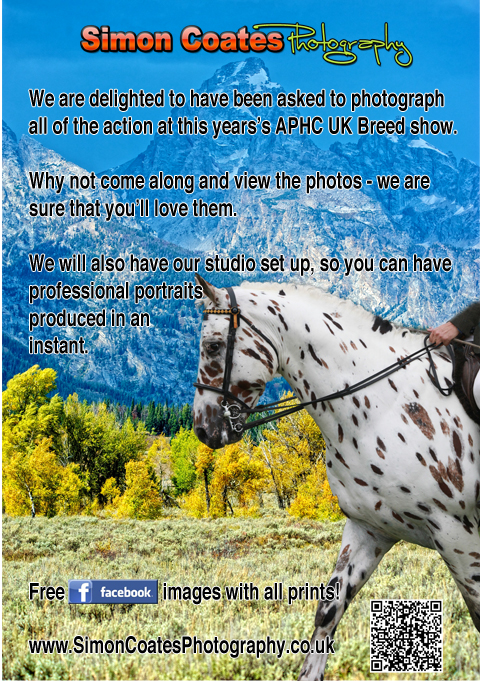 Official Photographers for the Appaloosa Horse Club (UK)