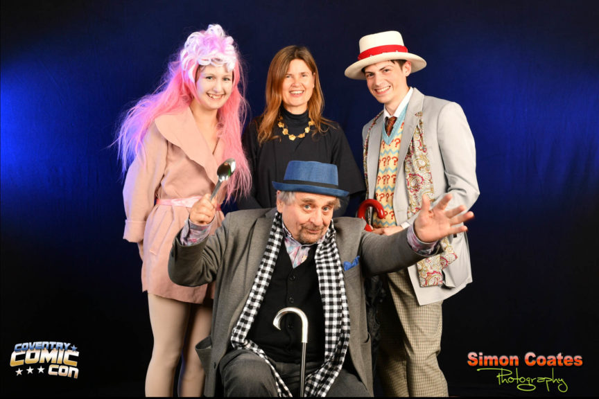 Sylvester McCoy and Sophie Aldred at Coventry Comic Con