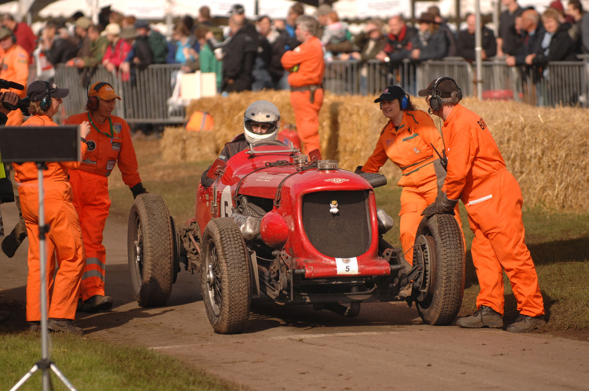 Napier on the start line at the Cholmondeley