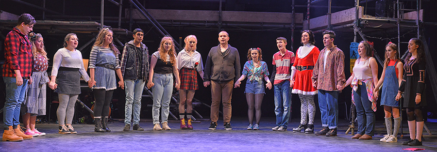 Wing-It Theatre's production of RENT at the Albany Theatre in Coventry